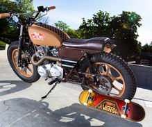 "1980 Kawasaki Z400 ""Chocolate Checker"""